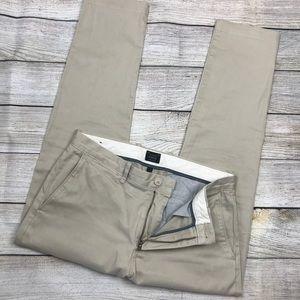 Mens J CREW 484 slim fit stretch chino pants 31/28